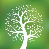 Fotografie Bio-grünes Baumlogo, Öko-Emblem, ökologisches Natursymbol