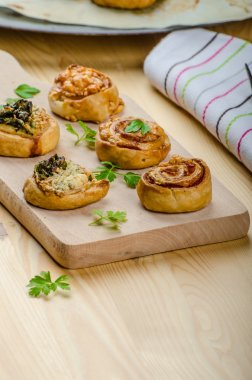 Canapes puff pastry