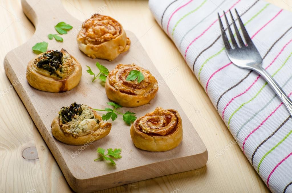 Canapes puff pastry stock photo peteer 57690769 for Puff pastry canape
