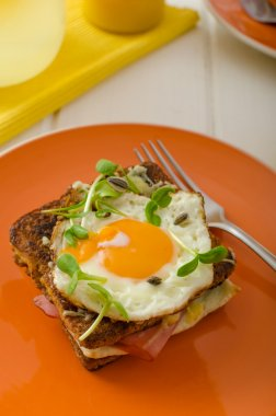 Croque Madame - french baked toast