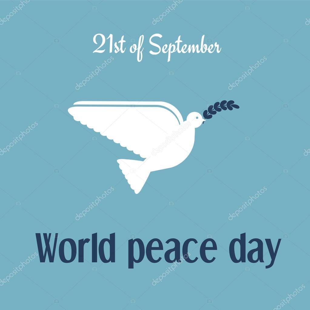 World peace day card