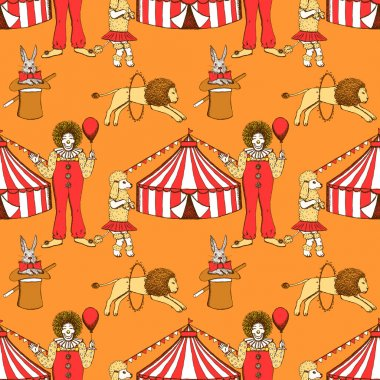 Sketch circus  in vintage style