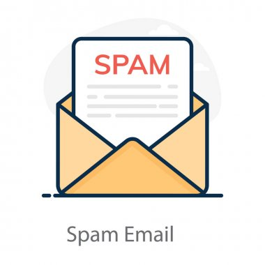 An icon of spam email, electronic mail icon