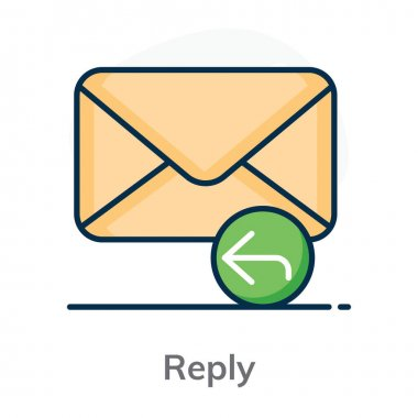 An icon style of reply, editable vector icon