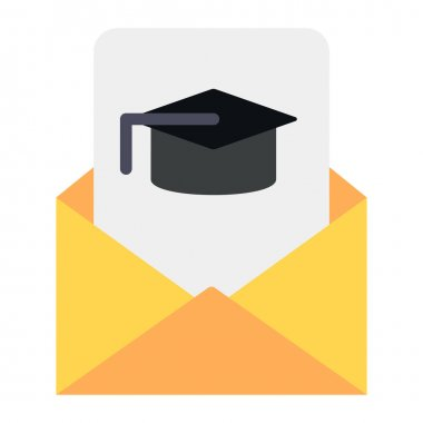 Student email vector in editable style, educational email icon