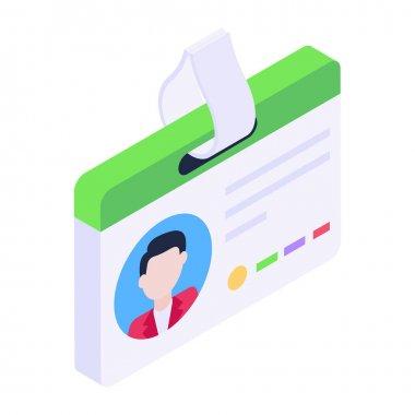 id card, vector illustration