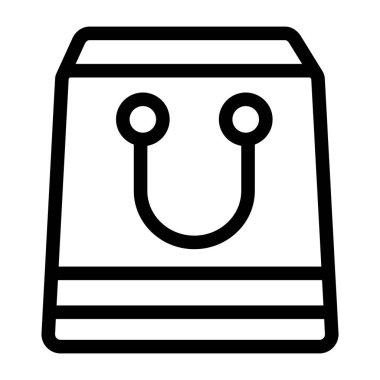 Shopping bag. simple design icon