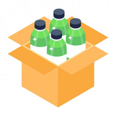 Isolated bottles of beer . vector illustration icon