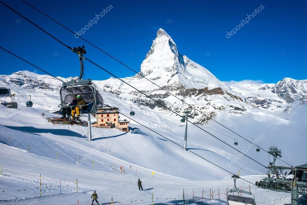 Matterhorn Peak with blue sky background