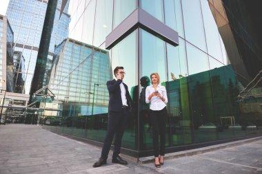 Entrepreneurs using cell telephones