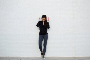 Attractive and sporty young woman