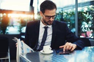 Businessman use digital tablet