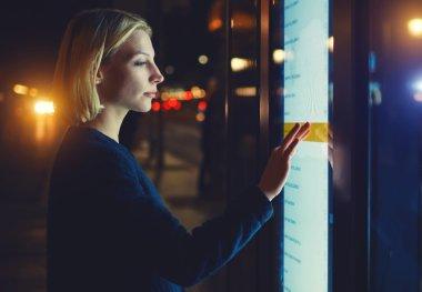 woman verifies account balance