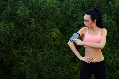 woman  getting ready for workout
