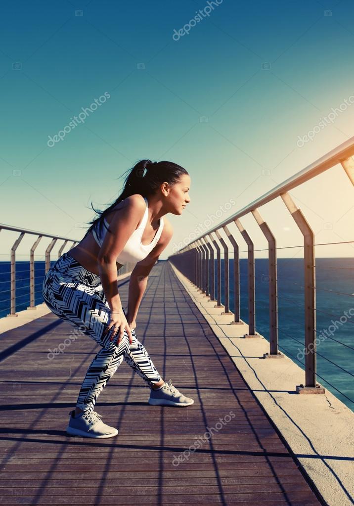 Sexy runner warm up