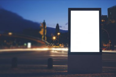 blank city billboard with copy space
