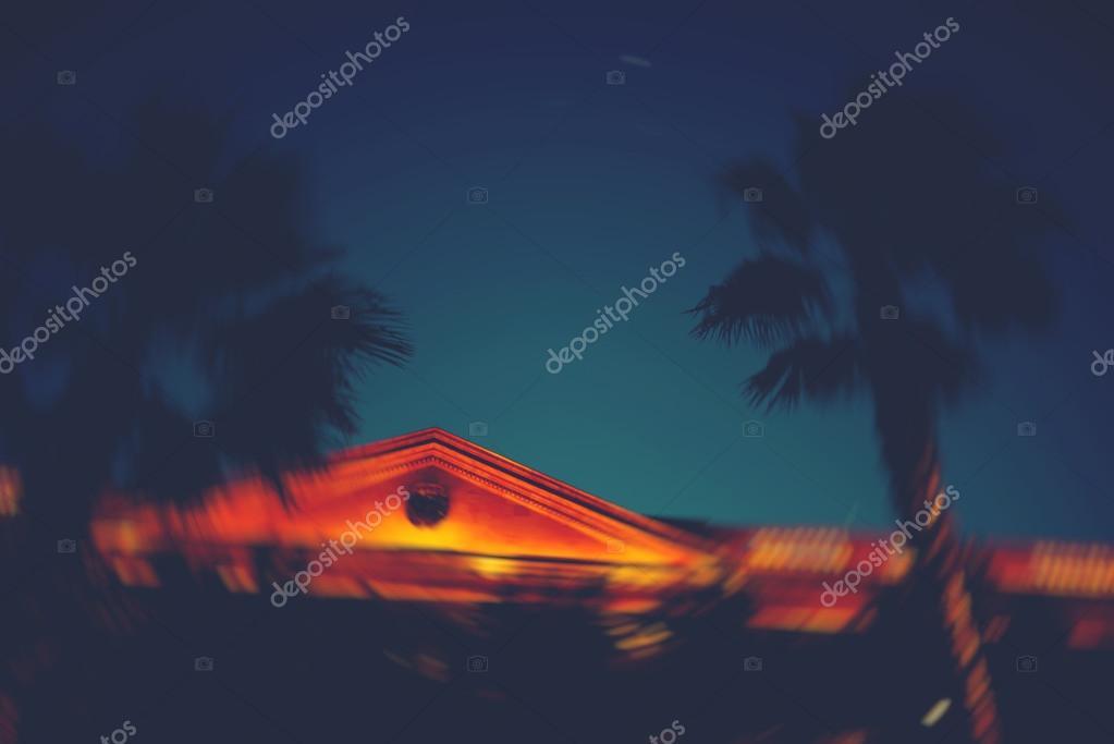 Antique beautiful building at night