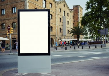 Blank billboard with copy space on sunny day