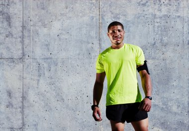 jogger taking break after an active run