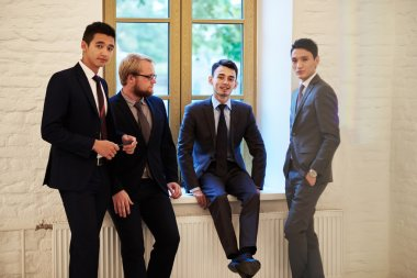 Group of young businessmen