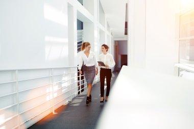 women entrepreneurs discussing ideas of project