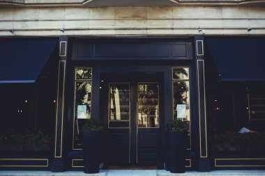 Exterior of luxury restaurant