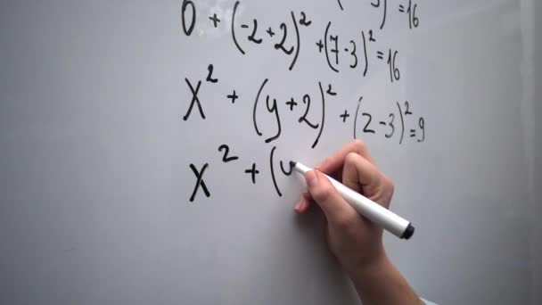 Student doing mathematics exercises. School or college lesson. Education concept