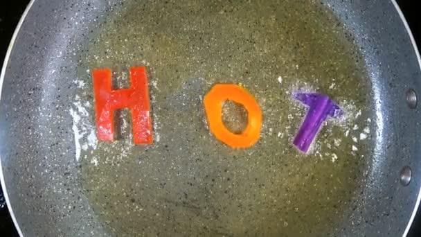 Hýbat-smíšené abeceda písmen, slov Hot