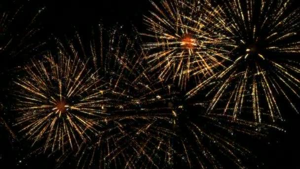 Farbenfrohes Feuerwerk in Zeitlupe