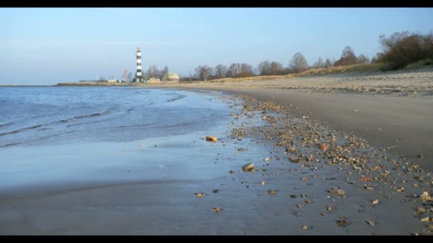 Písečná pláž v Baltském moři, Riga Lotyšsko