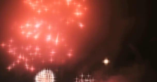 Világítás homályos tündér tűzijáték háttérrel