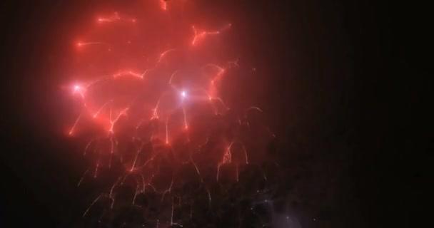 Rozmazané světla víla z aplikace fireworks pozadí
