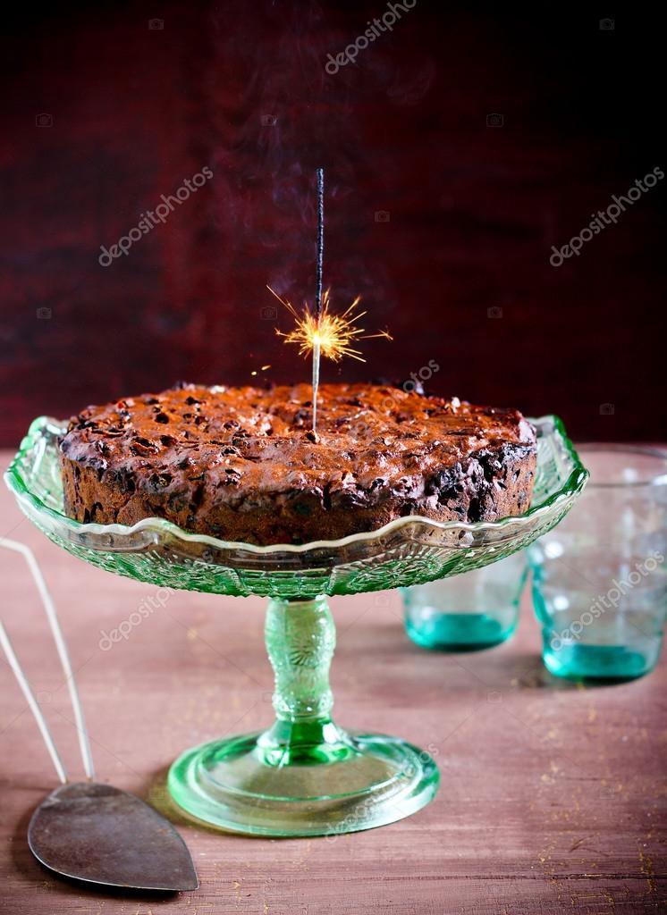 Rich fruit cake with flare light Stock Photo manyakotic 60302505