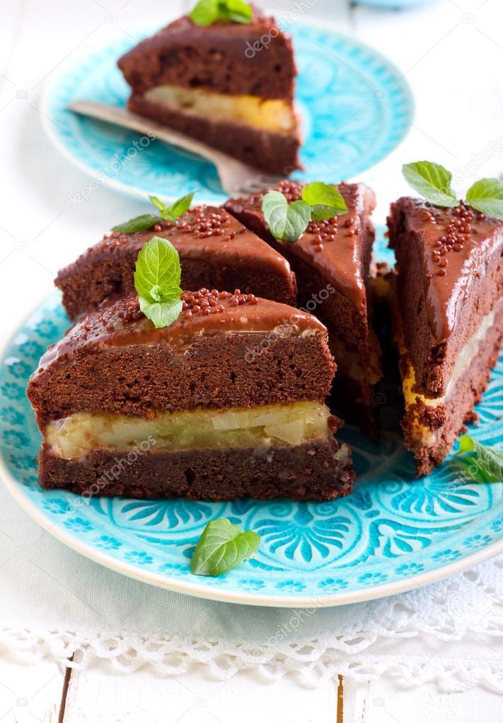fyllning tårta choklad