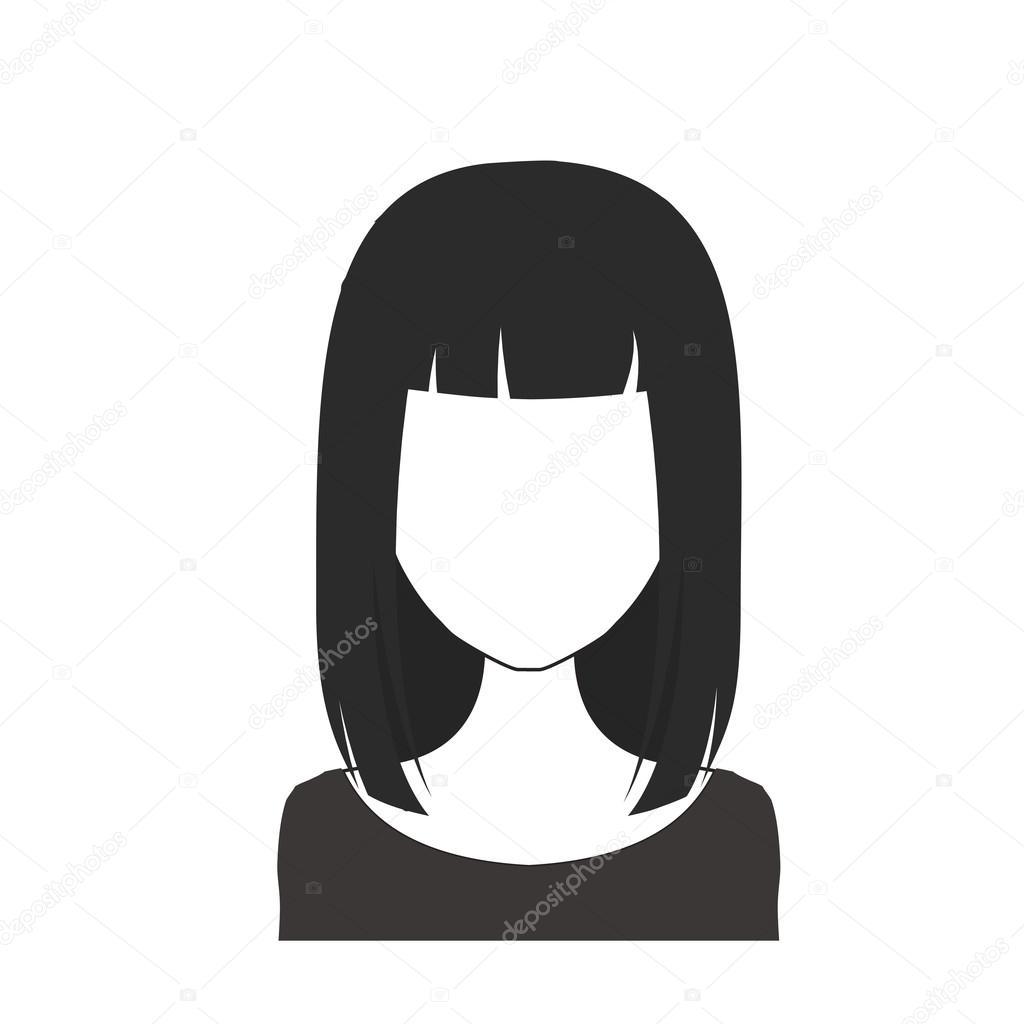 noir et blanc femme avatar nr 19 image vectorielle. Black Bedroom Furniture Sets. Home Design Ideas