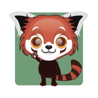 Cute red panda mascot