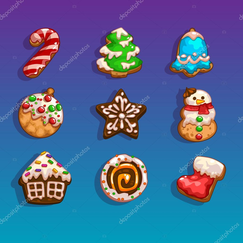 Icons for games on the theme Christmas