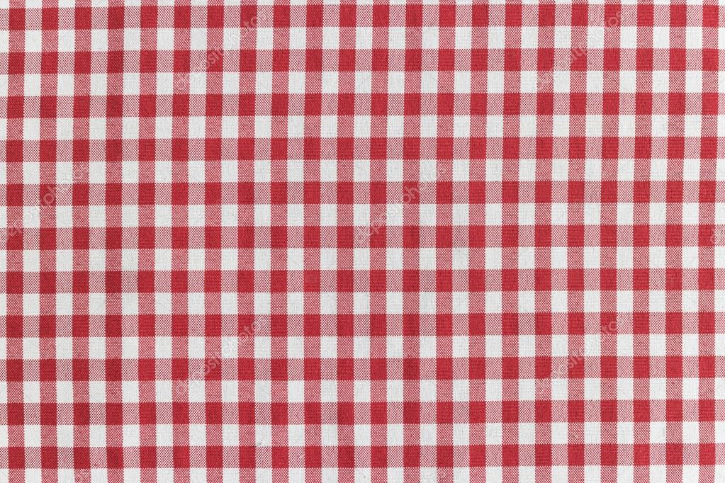nappe à carreaux rouge et blanc — photographie rayhuephoto © #66556605
