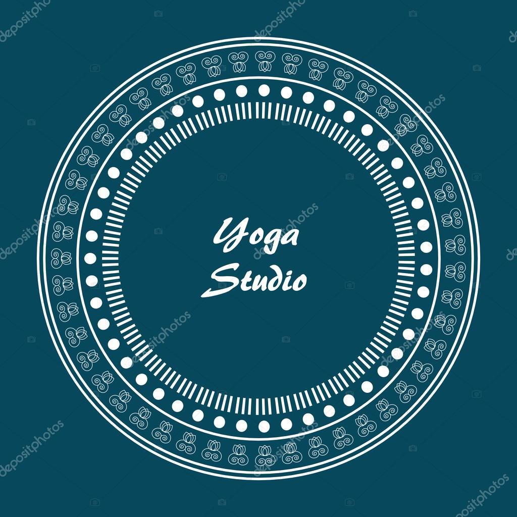 Dekorative Emblem der Yoga Vektor Lineart Logo Vorlage für ...