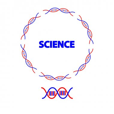 Stock Vector Hilos de la DNA plantilla de formulario