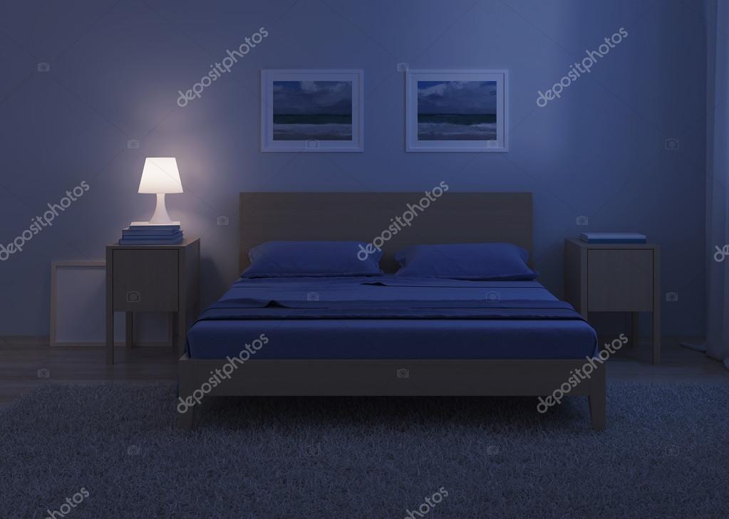 Laminaat Slaapkamer Koud : Slaapkamer interieur in koude tinten u2014 stockfoto © artemp1 #119322774