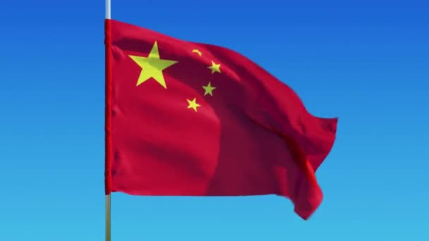 China flag on a background of clear sky