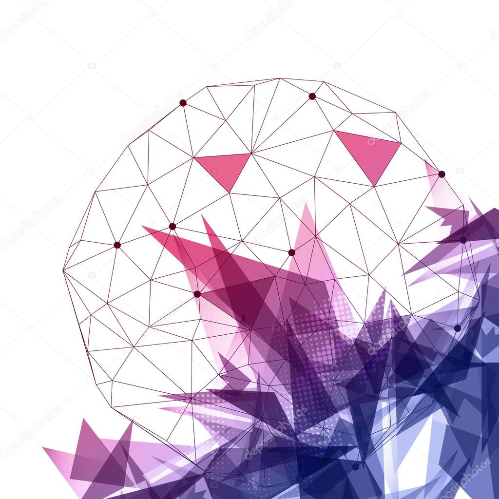 Cloud of Data Streams Abstract Background - Vector Illustration