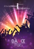Fényképek tánc party poszter háttér sablon - vektor-illusztráció