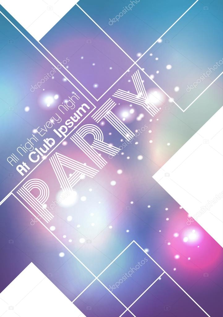 party flyer background vector illustration stock vector