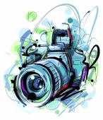 Velký modrý fotoaparát