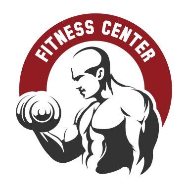 Fitness center or gym emblem