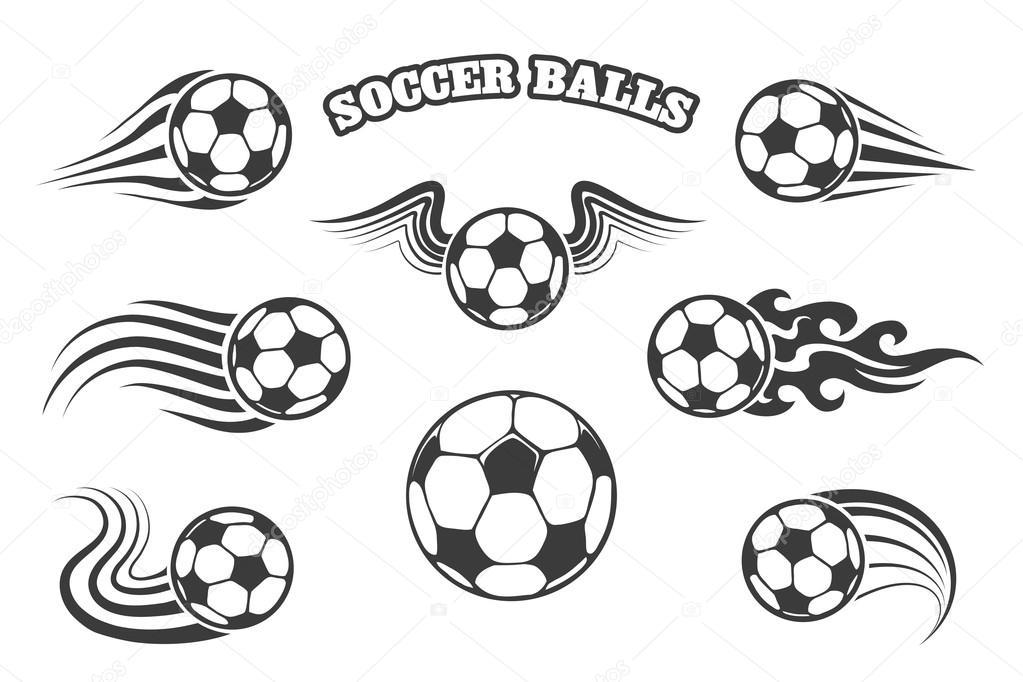 c1b2a02638520 Pelotas o balones de fútbol con alas