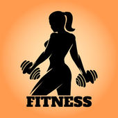 Fotografie Fitness Woman Emblem