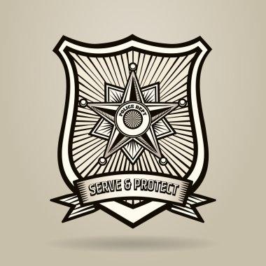 Engraving Police Badge